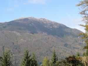 Pogled na jesenski Blegoš z Gore (Malenski vrh)